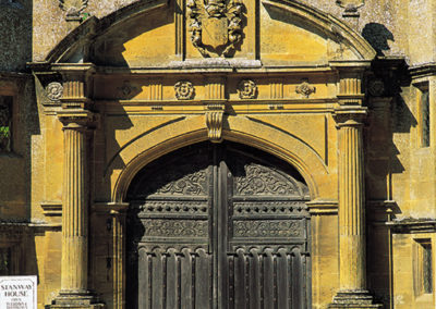 Detailed Cotswold architecture in local stone