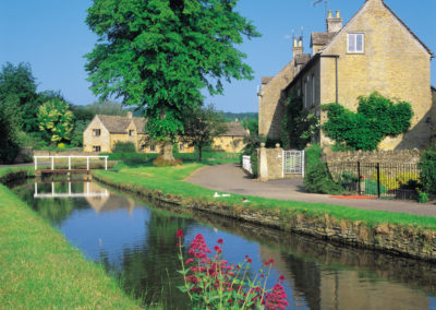 Village streams and pretty Cotswold cottages